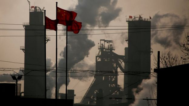 A steel plant in the Chinese province of Hebei.