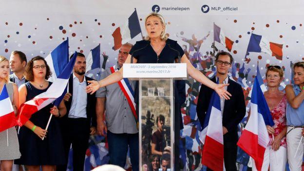 Marine Le Pen, la presidenta del Frente Nacional de Francia.