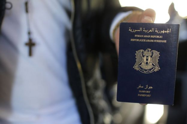 Человек с сирийским паспортом