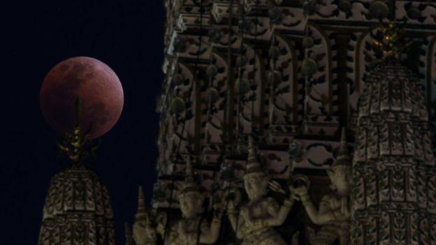 El eclipse visto en Bangkok
