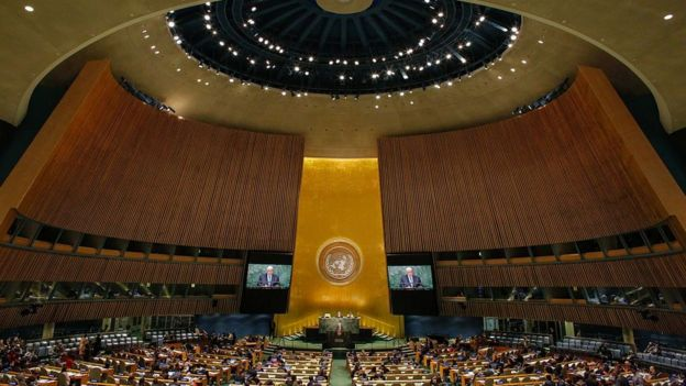 The United Nations General Assembly in New York