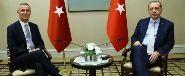 NATO Genel Sekreteri Jens Stoltenberg ve Cumhurbaşkanı Recep Tayyip Erdoğan
