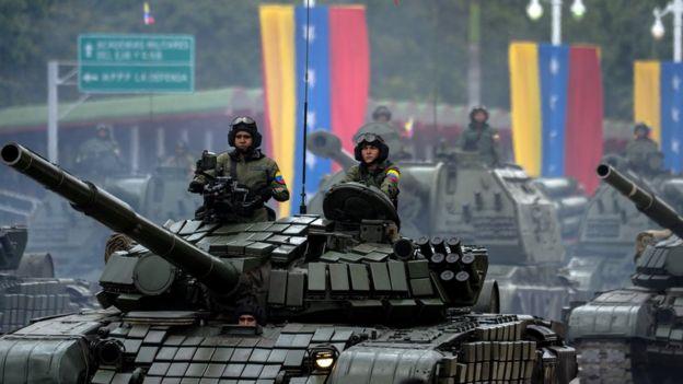 Un tanque venezolano.