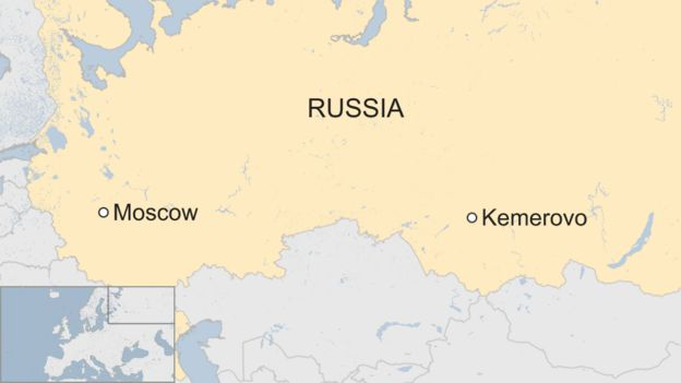 Investigators into fatal Russian mall fire say exits were blocked