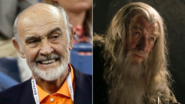 Sir Sean Connery and Sir Ian McKellen as Gandalf