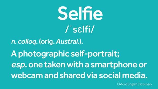 Definición de selfie en el Diccionario Oxford.