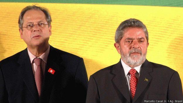 Dirceu com Lula, em foto de arquivo