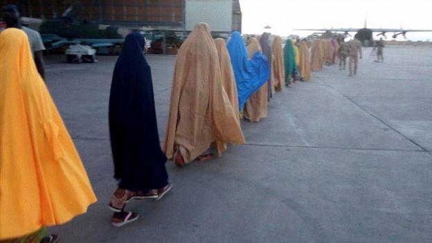 Freed schoolgirls in Nigeria