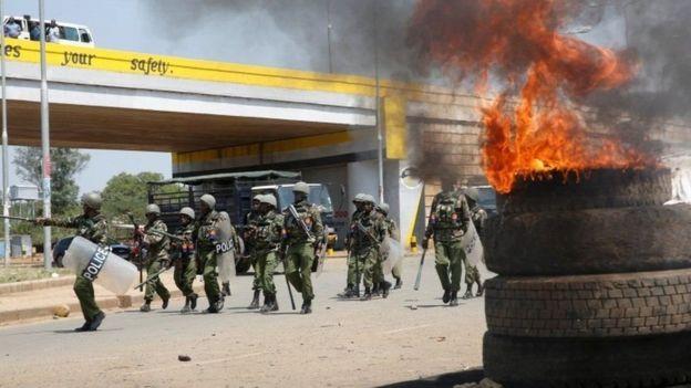 Polisi wa kupambana na ghasia mjini Kisumu