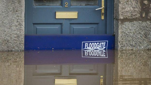 Floodwaters at door