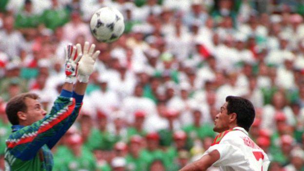 Partido México e Italia en 1994