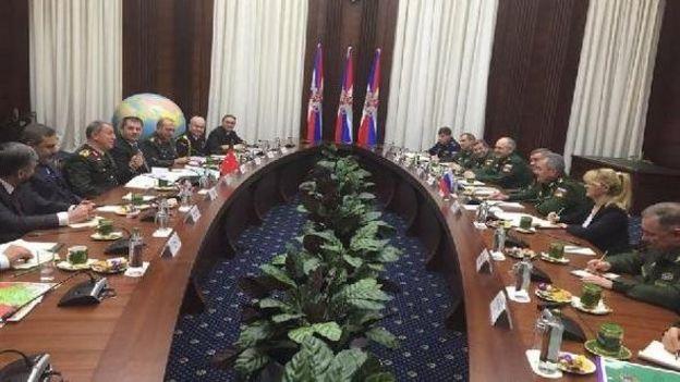 Genelkurmay Başkanı Orgeneral Hulusi Akar ve MİT Müsteşarı Hakan Fidan, Rus yetkililerle görüşürken