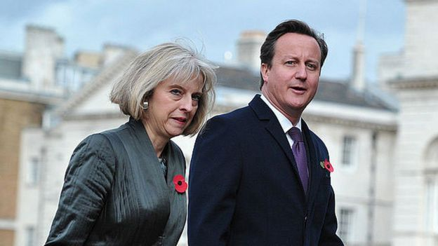 Theresa May y David Cameron