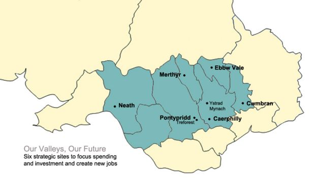 South Wales valleys action plan for 7000 new jobs  BBC News