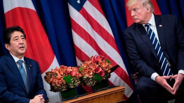Trump ve Japonya Başbakanı Shinzo Abe