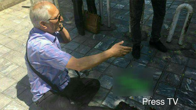 Meclis'teki saldırıda yaralanan bir kişi