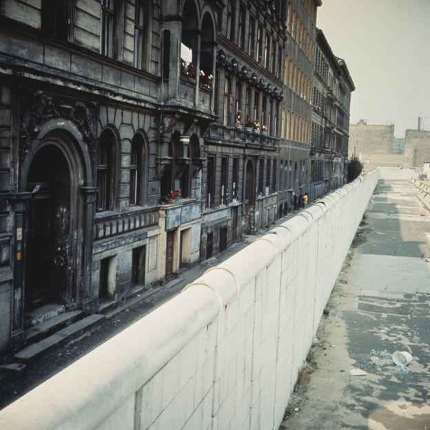 El muro de Berlin en 1970