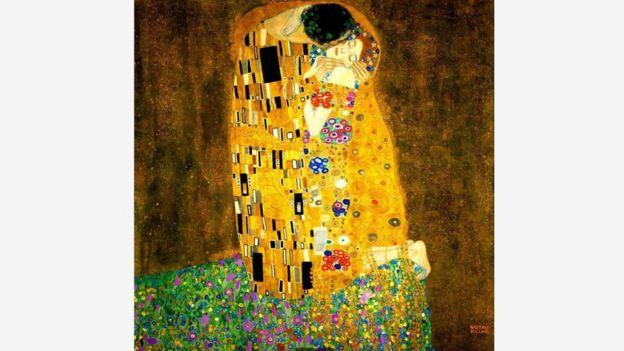 克里姆特的著名画作《吻》,在浪漫的镀金表面下隐藏了残酷而暴力的现实。