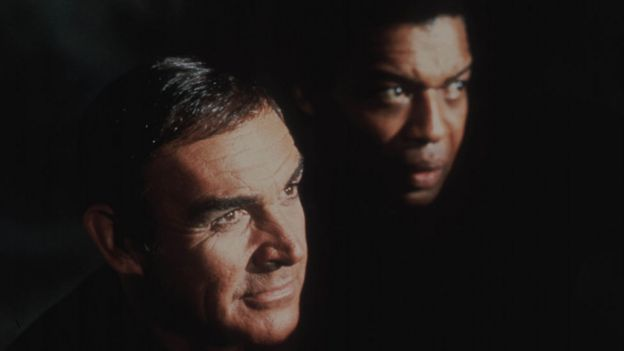 Bernie Casey with Sean Connery in Never Say Never Again