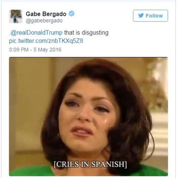 _89609204_spanish donald trump declares hispanic love with tacos bbc news,Thanksgiving With Hispanic Families Memes