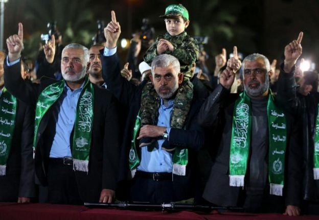 Líderes de Hamás.