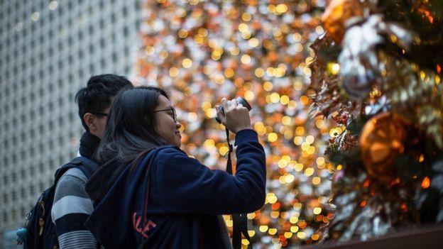 Decorações de Natal em Hong Kong