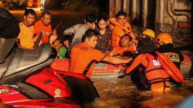 Storm Tembin hits Davao, Mindanao