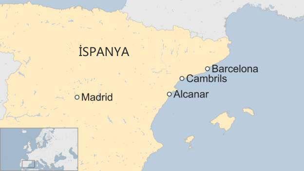 İspanya saldırılar harita