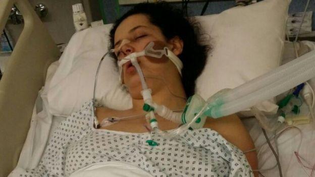 مريم مصطفى في المستشفى