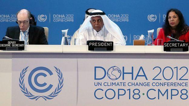 Reunión sobre Cambio Climático en Doha.