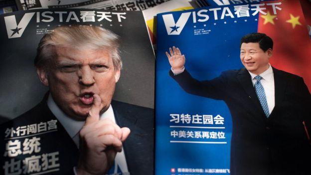 Donad Trump (EUA) e Xi Jinping (China)