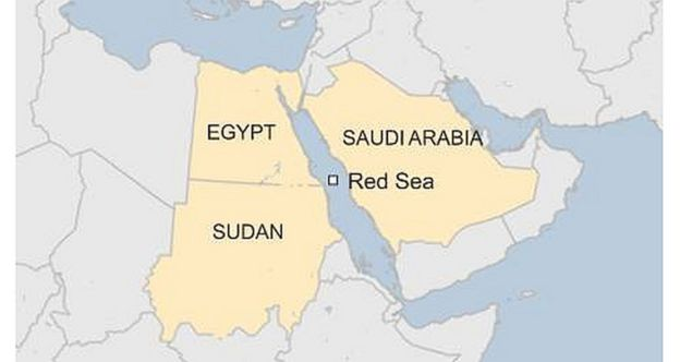 saudi arabia and egypt announce red sea bridge bbc news Egypt Saudi Arabia Map map red sea egypt saudi arabia bridge
