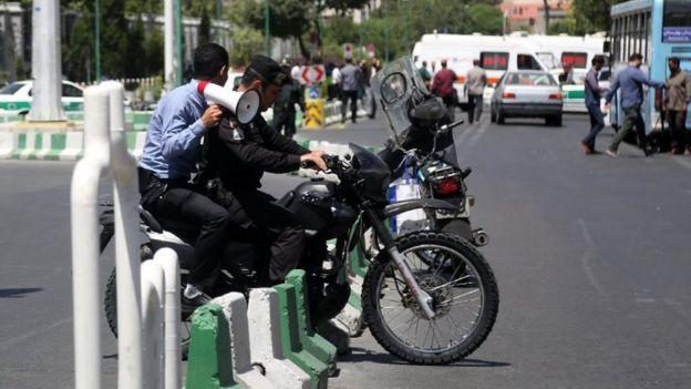 تدابیر امنیتی در اطراف مجلس ایران