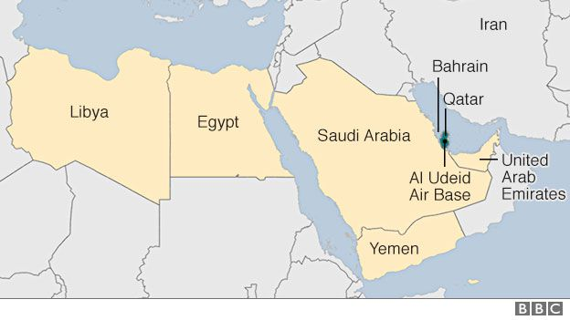 Qatari Planes Banned From Egyptian And Saudi Air Space BBC News - Map of qatar and egypt