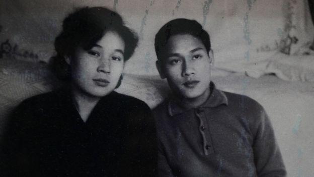 Bà Lý Vĩnh Hỷ và ông Phạm Ngọc Cảnh khi còn trẻ