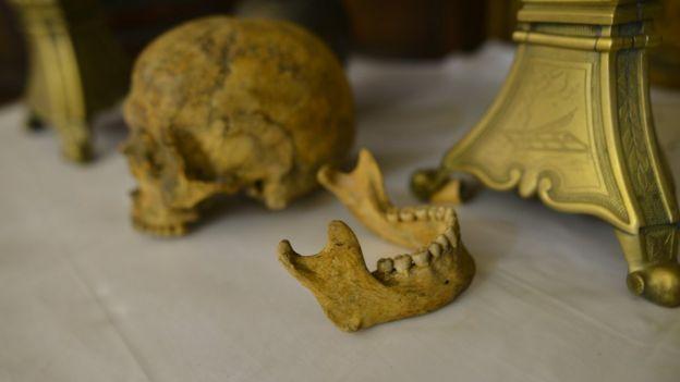 Supuesto cráneo de San Valentín