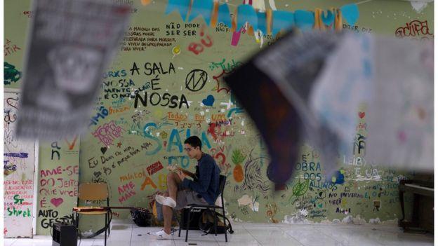 Ocupação de escola no Rio de Janeiro