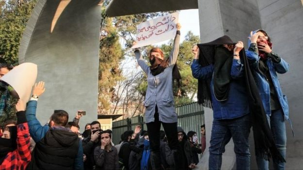 Anti-government protests at University of Tehran (30/12/17)