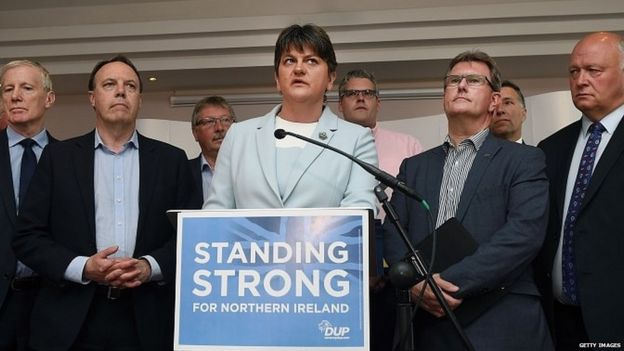 Arlene Foster and other DUP MPs