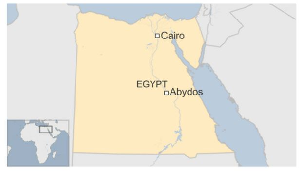 Map of Abydos in Egypt