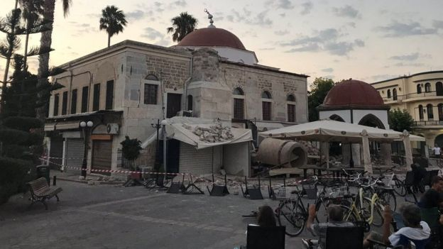 The quake damaged a number of older buildings on the island of Kos / REUTERS