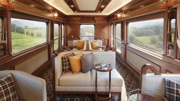 """التصميم الداخلي لقطار """"بيلموند غراند هيبرنيان"""""""
