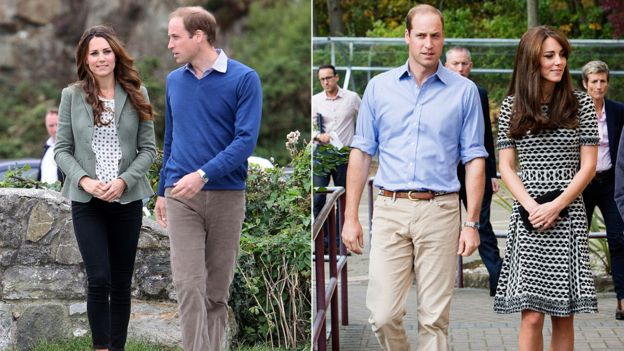 Hoàng tử William và Kate Middleton ăn mặc hàng ngày