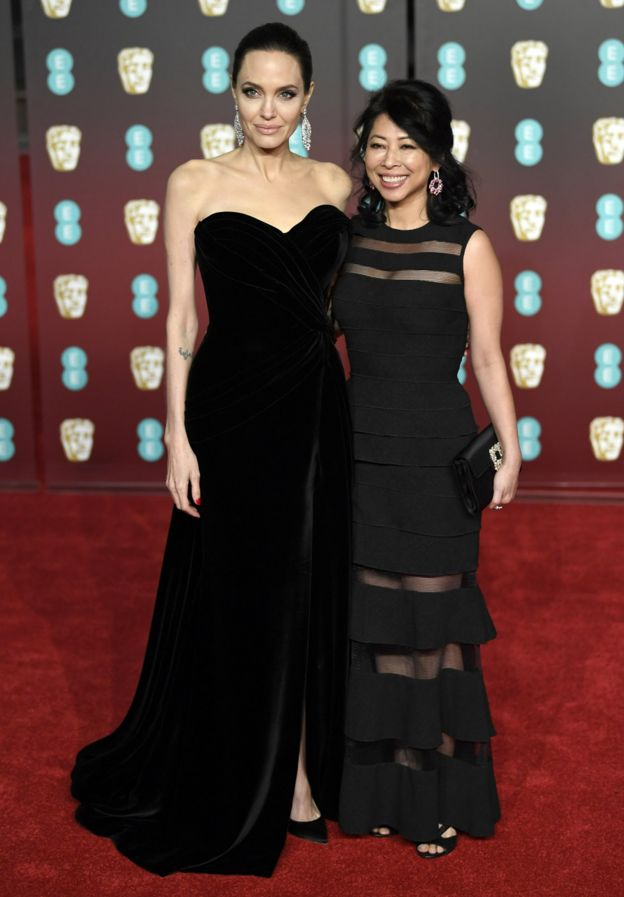 Angelina Jolie and Loung Ung