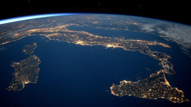 Planeta terra visto do espaço