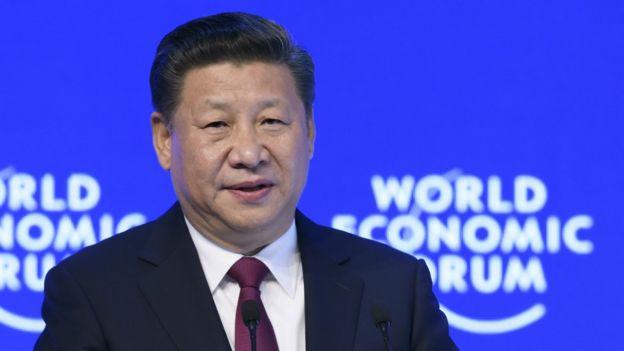 Xi Jinping en Davos.