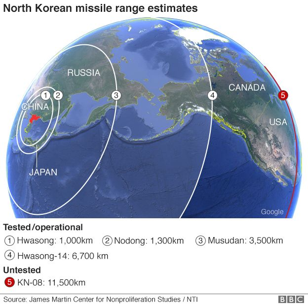 Trump Disappointed With China After North Korea Missile Test - Earth map us china