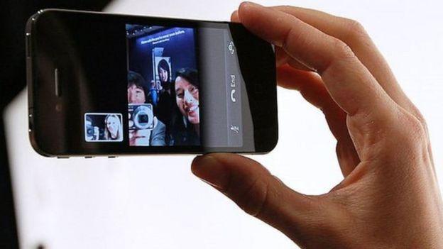 Câmera frontal do iPhone