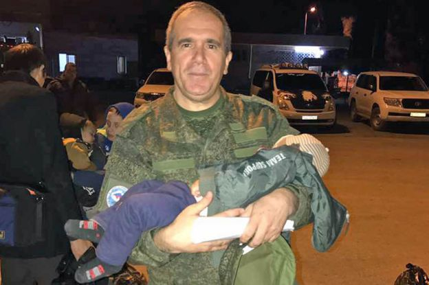 Ziyad Sabsabi brings back a child from Syria to Chechnya