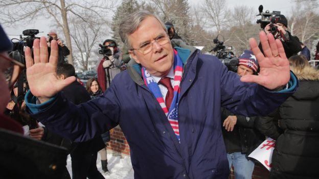 Jeb Bush, hermano del ex presidente George W. Bush, era uno de los candidatos más fuertes que debía enfrentar Trump.